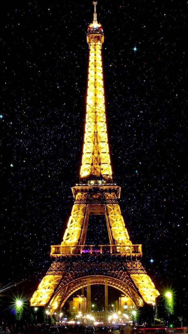 Wallpaper iPhone /night Paris⚪️
