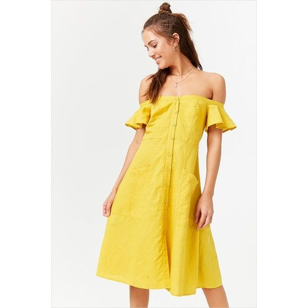 24+ Yellow off the shoulder dress ideas