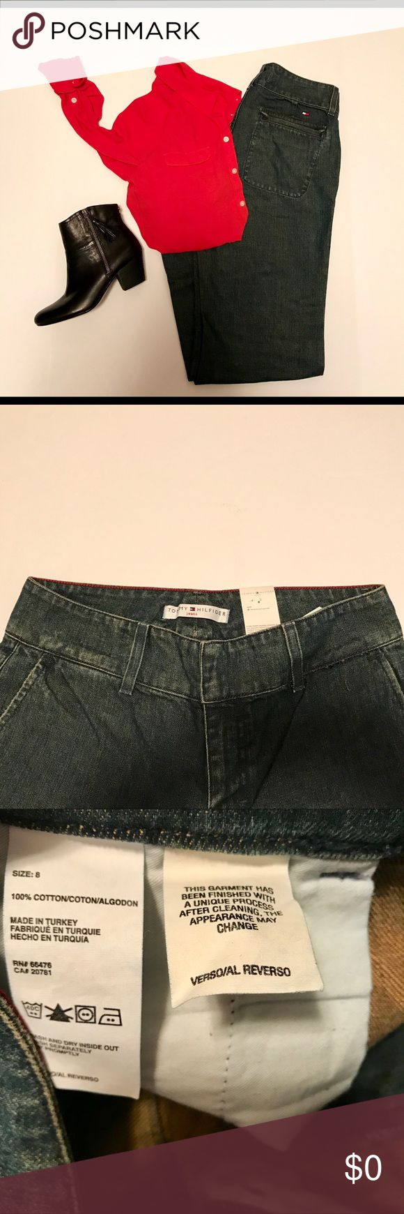 Tommy Hilfiger Ero Jeans 2003: Size 8 Mom Jeans Vintage Tommy Hilfiger Womens Jeans Dark Wash Size 8 ERO-ERO  Excellent Condition - No Stains or Tears Size 8 Dark Wash 100% Cotton Button / Zipper Two Front Slit Pockets, Two Rear Pockets  Belt Loops   Stock Number ERO-ERO Tommy Hilfiger Jeans