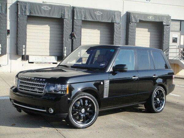 Black on black Range Rover
