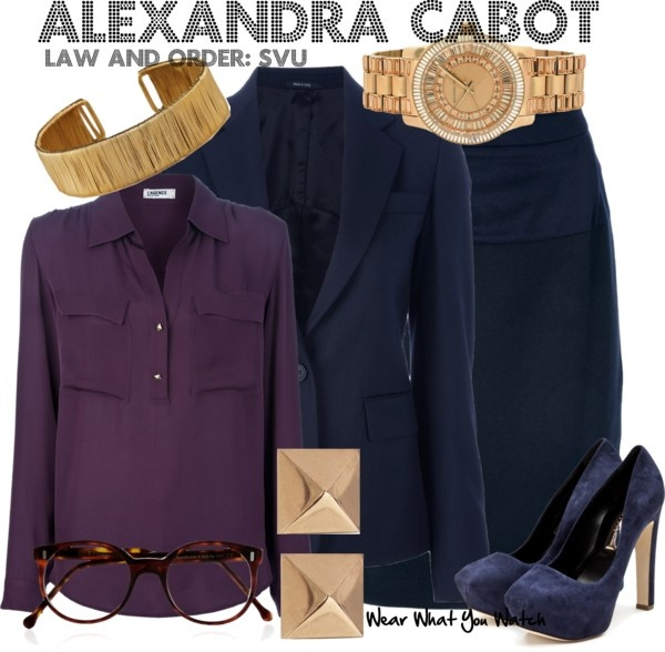 Inspired by Stephanie March as Alexandra Cabot from Law and Order: SVU.