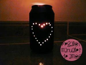 Regalos manuales de amor: Lata - linterna corazón (tutorial DIY)