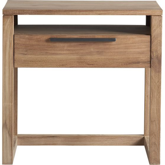 Could go lighter on side tables?? Linea 1-Drawer Nightstand  | Crate and Barrel