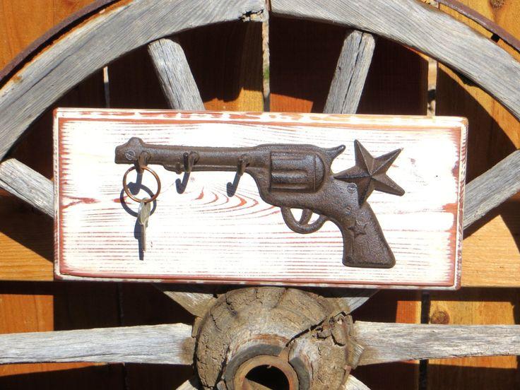 Interesting rustic key holder gun revolver pistol key hook wall mounted key  rack wild west western decor cowboy rustic western key organizer with wild  west  Wild West Home Decor  Western Store Fronts With Wild West Home  . Wild West Home Decor. Home Design Ideas