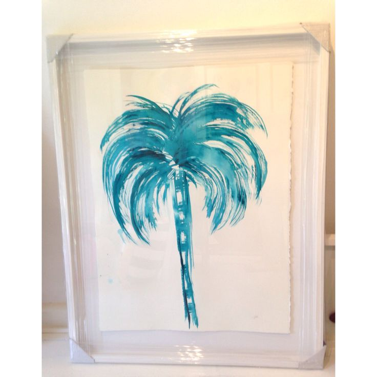 Ink Palm in AQUA using my favourite brush by libby watkins