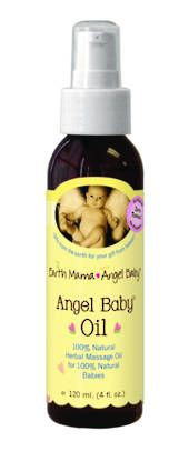 Angel Baby Oil  Infused with calming organic Chamomile and moisturizing organic Calendula, and has virtually no scent.