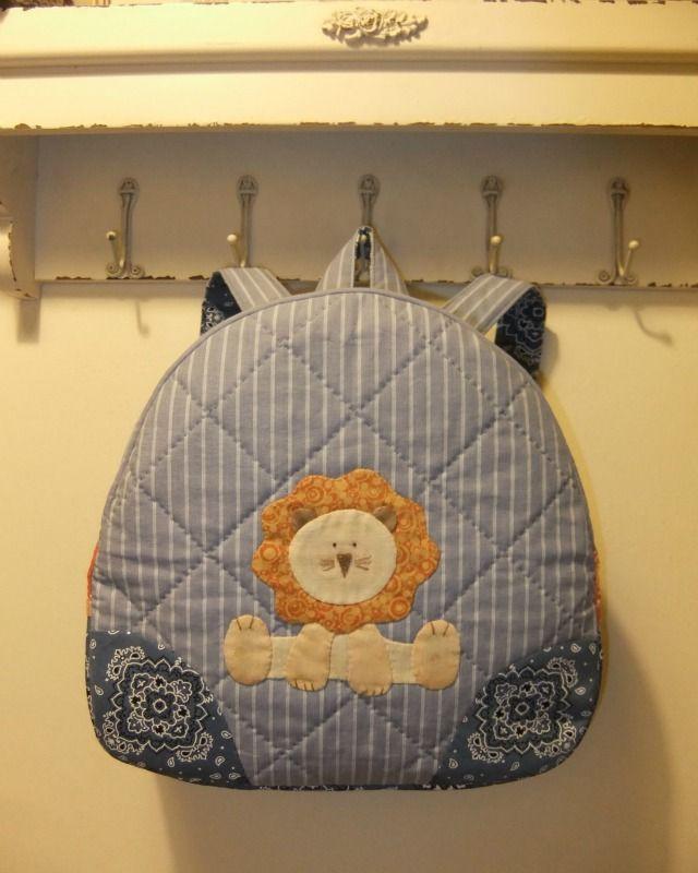 Leo toddler backpack handmade