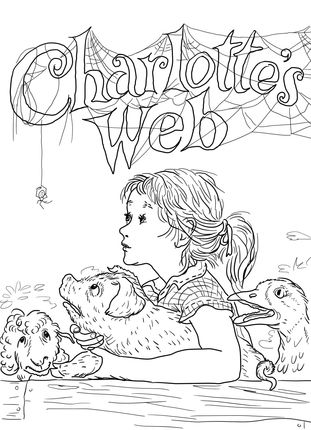 Click to see printable version of Charlotte's Web coloring page                                                                                                                                                     More