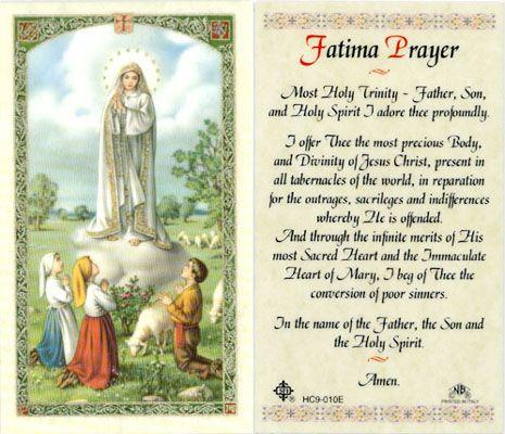 Fatima Prayer   Fatima Prayer