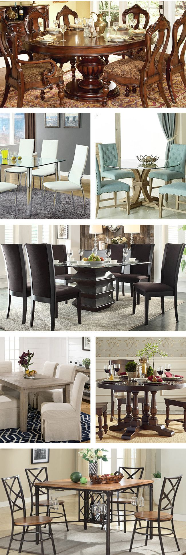 It is important to find a dining space that makes people feel welcome and comfortable. A large room is perfect for a round dining table, or if you prefer a rustic style choose the sturdy farmhouse table. Visit Wayfair and sign up today to get access to exclusive deals everyday up to 70% off. Free shipping on all orders over $49.