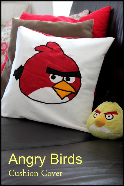 Angry birds cushion cover tutorial