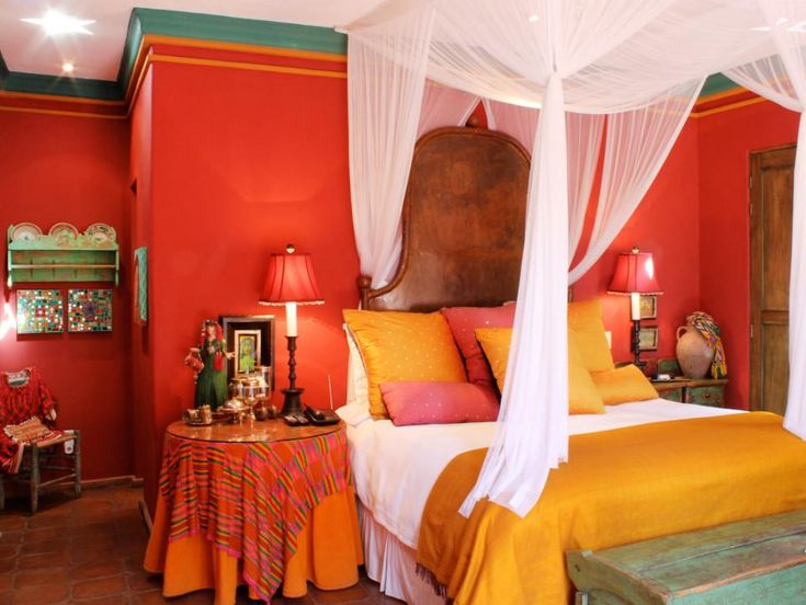spanish style decorating ideas - Orange Canopy Decorating