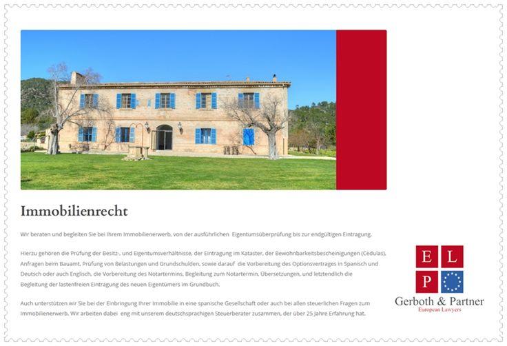 Immobilienrecht Spanien - Gerboth & Partner, European Lawyers.  #Palma #Mallorca #Ibiza