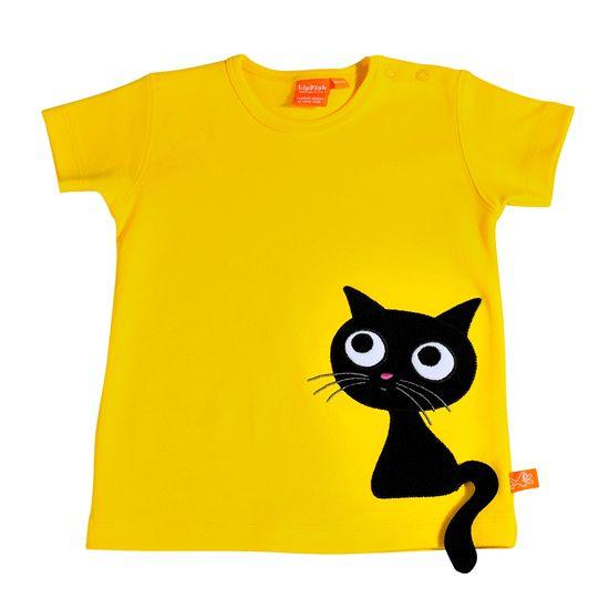 Tshirt amarela com gato