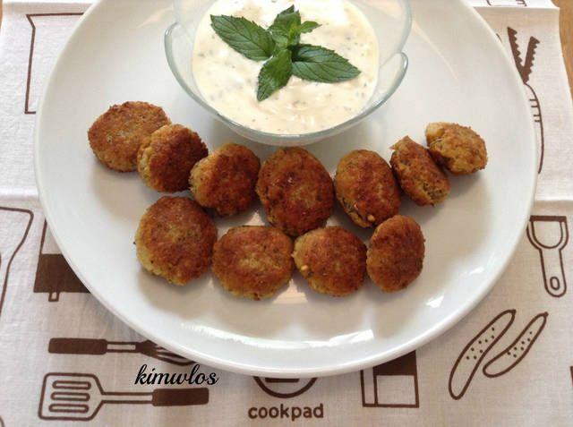 Ρεβυθοκεφτέδες τραγανοί με σως γιαουρτιού-δυόσμου #cookpadgreece #revithokeftedes