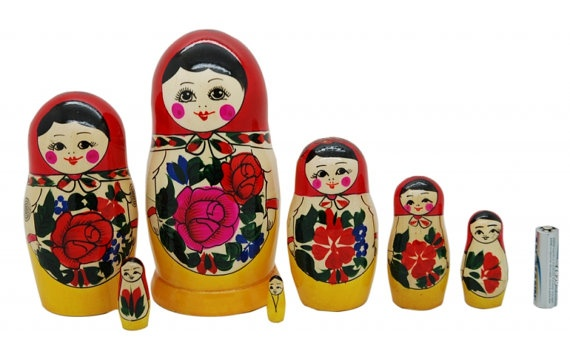 7 Authentic Russian Semenov Nesting dolls Matryoshka  7 Authentic Russian Semenov Nesting dolls Matryoshka  zoom  100% New!  100% natural wood and paint!  Handmade by Russian professional artists!  Special price + free delivery worlwide!      7 piece matryoshka doll set. This set is made by hand in Russia in Semenov city that is why its name is Semenovskaya. This nesting doll is an authentic example of a Semenov style of matryoshka painting.Russian Semenov, Dolls Matryoshka, Nesting Dolls, Dolls Sets, Authentic Russian, Matryoshka Nests, Nests Dolls, Matryoshka Dolls, Russian Nests