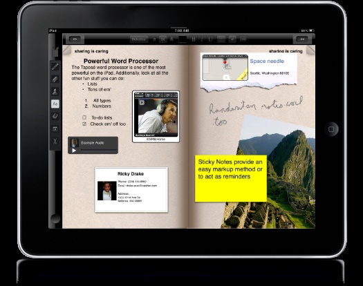 Great new iPad app called Taposé.