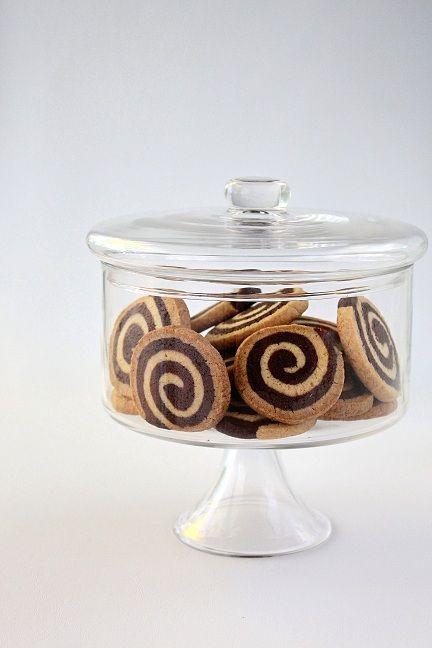 SugaryWinzy Chocolate Pinwheel Cookies. RECIPE INCLUDED.