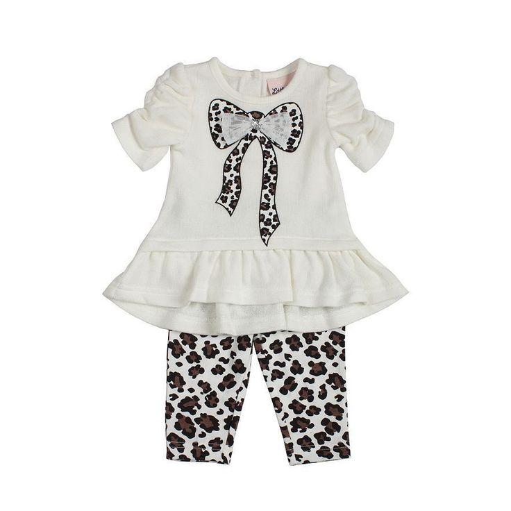 Girls Cheetah Dress & Leggings Set - Size 5 NWT Little Lass #LittleLass #Everyday