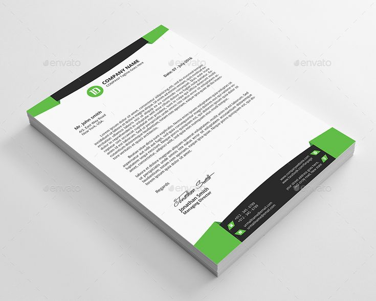 Company Letterhead Word Template Corporate Psd Identity Template