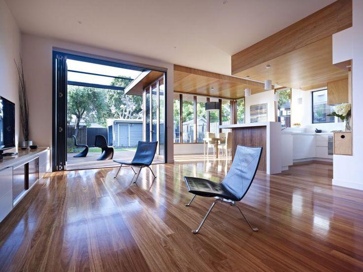 Resort Residence Flooring Also Glass Door And Minimalist Furniture Cottage Interior Furnished with Minimalist Wardrobe