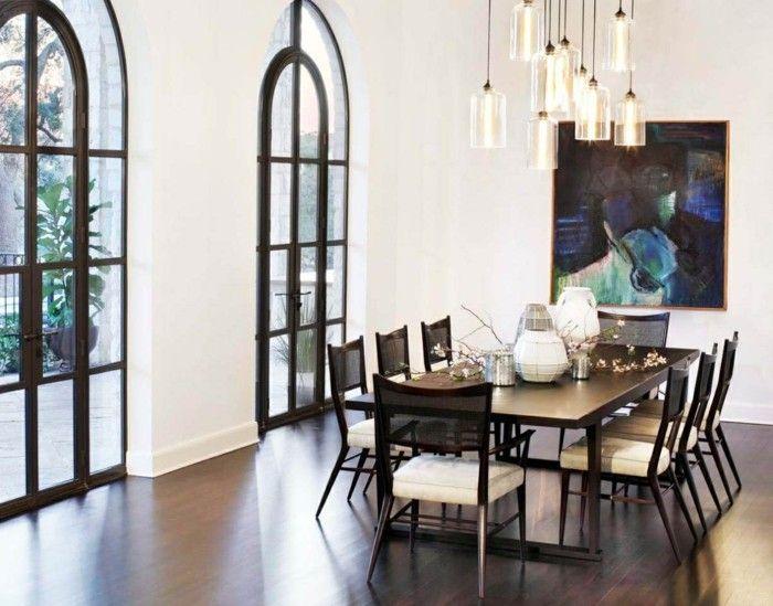 Esszimmer Modern Schöne Beleuchtung Als Akzent Im Raum