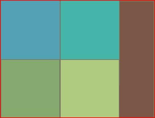 Living room color scheme aqua green brown