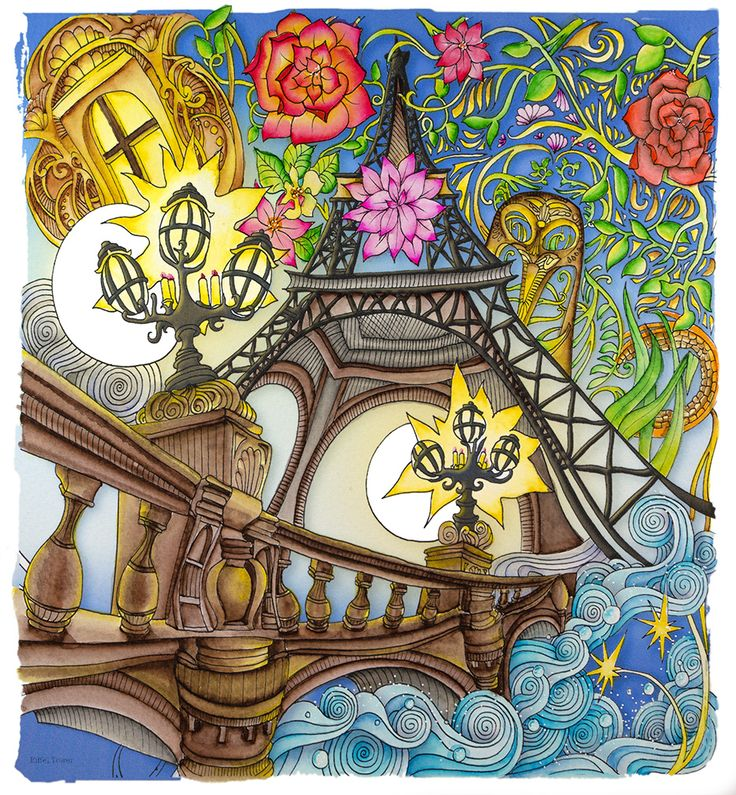 Eiffel Tower From Lizzie Mary Cullen Book Magical City Colored By Me