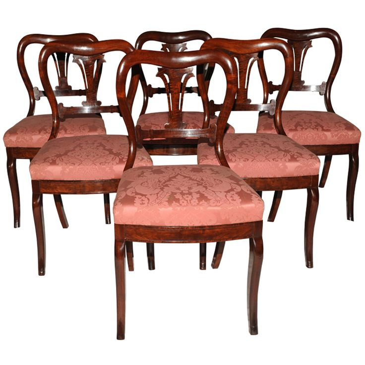 Duncan Phyfe Antique Set Of 6 Dining Chairs