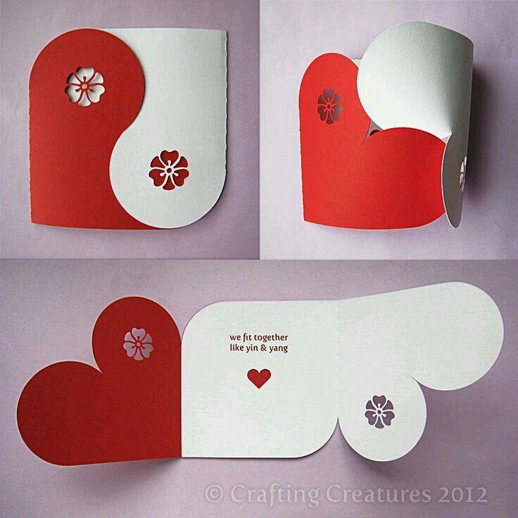 Carte en coeur