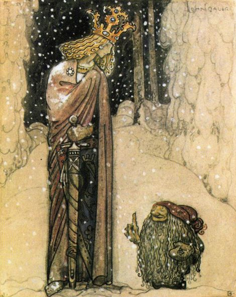 The prince is so handsome! Love John Bauer's work