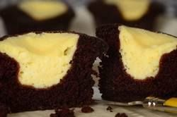 Egg/Butter/Milk Free Chocolate cake surrounding a cheesecake centre .... Can't wait to make these! I'm stumped at what to top them with though... suggestions?