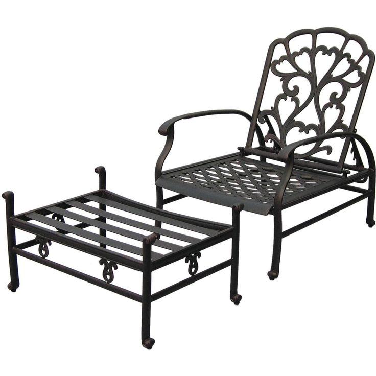 Darlee Catalina Cast Aluminum Patio Reclining Club Chair And Ottoman Darlee  Catalina Patio Adjustable Deep Seating