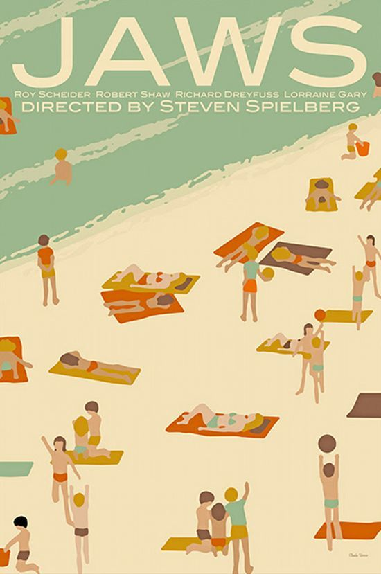 Claudia Varosio's beautifully illustrated movie posters: Jaws