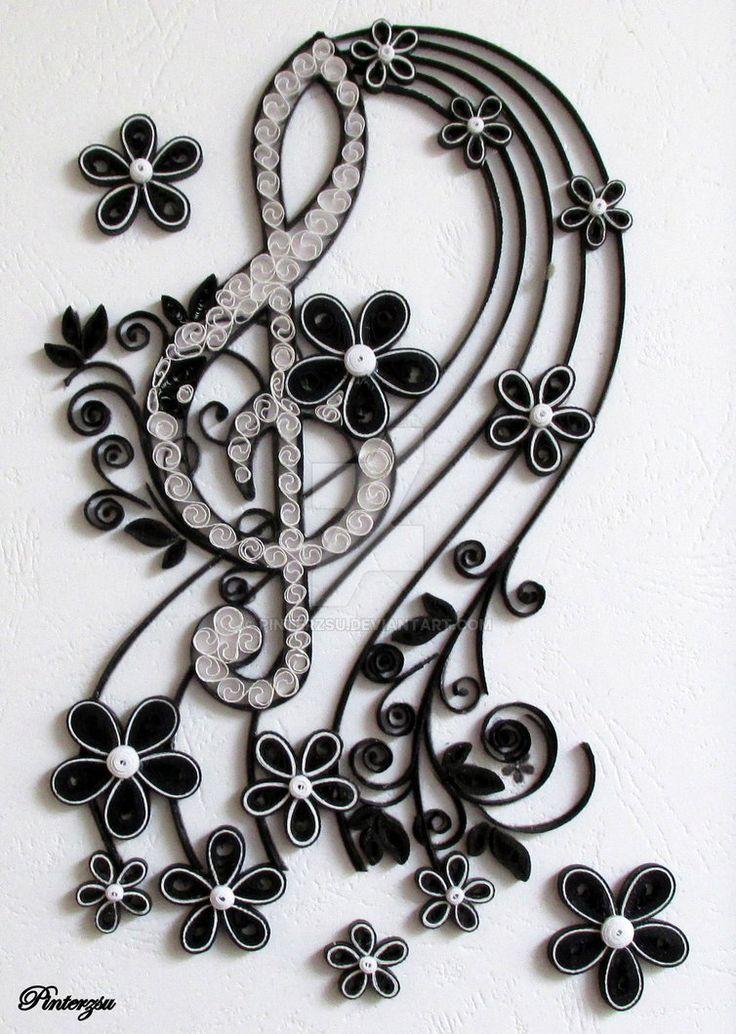 Quilled treble clef by pinterzsu.deviantart.com on @DeviantArt