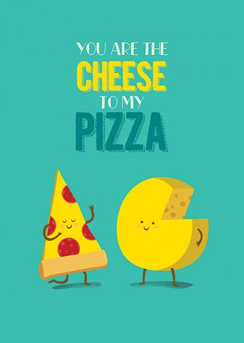 Poster Cheese and Pizza
