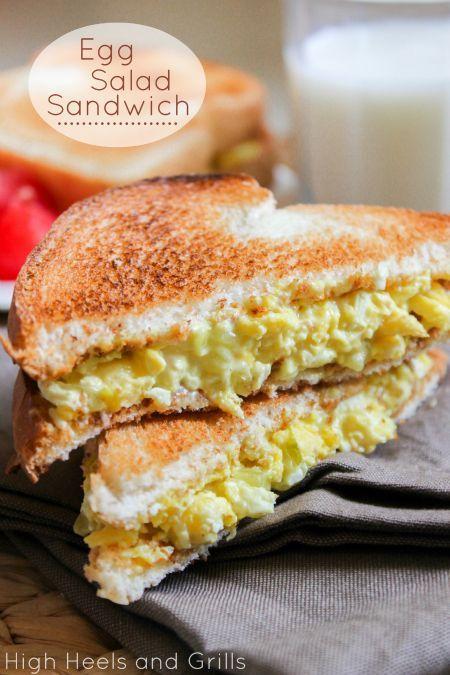 Best egg salad sandwich ever made. #recipe # lunch http://www.highheelsandgrills.com/2013/07/egg-salad-sandwich.html