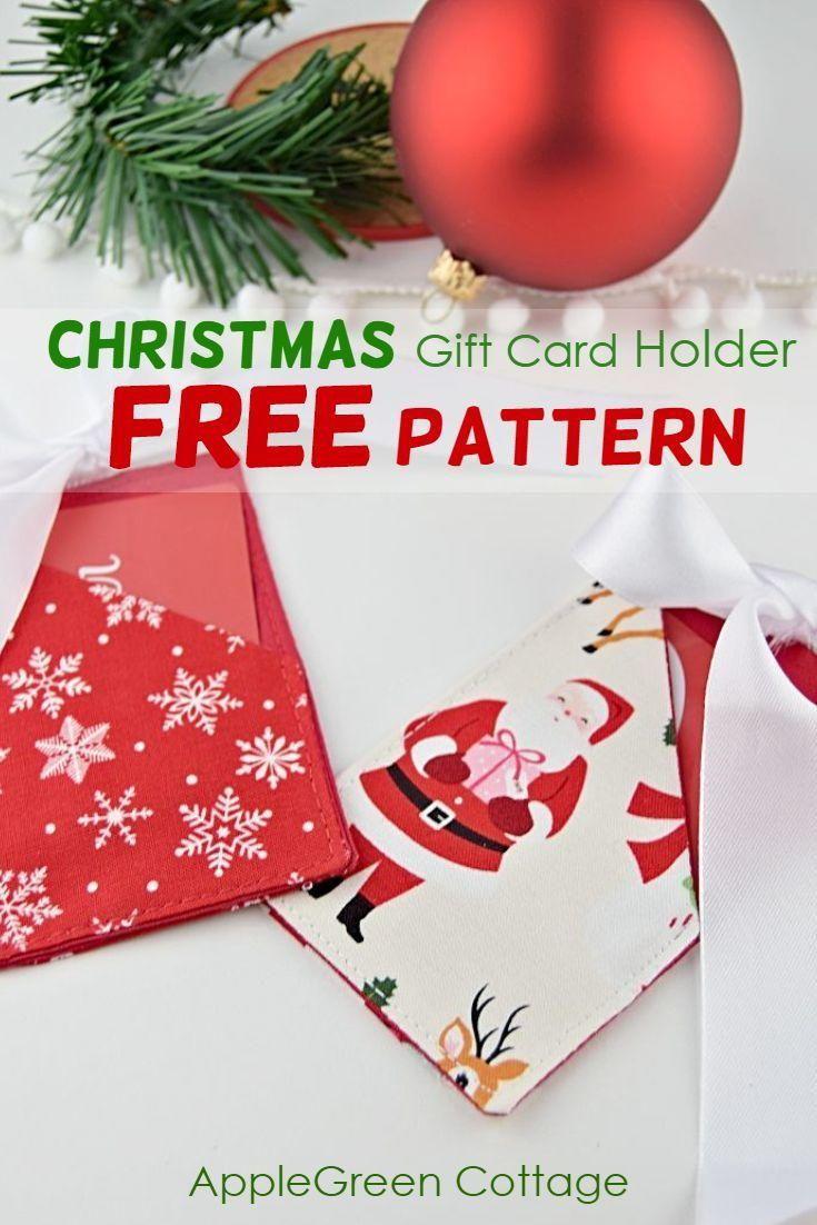 Christmas Gift Card Holder Free Pattern Christmas Gift Card Holders Christmas Gift Card Gift Card Holder