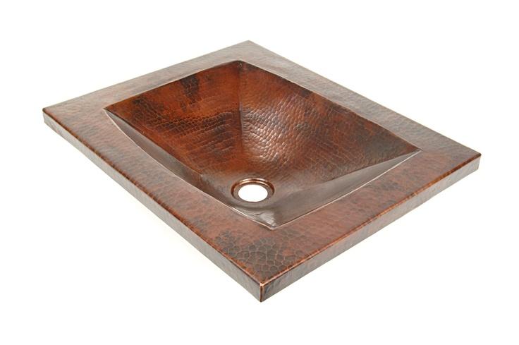 DVontz Curacao Copper Drop-In Sink | Dream House Bathrooms | Pinterest