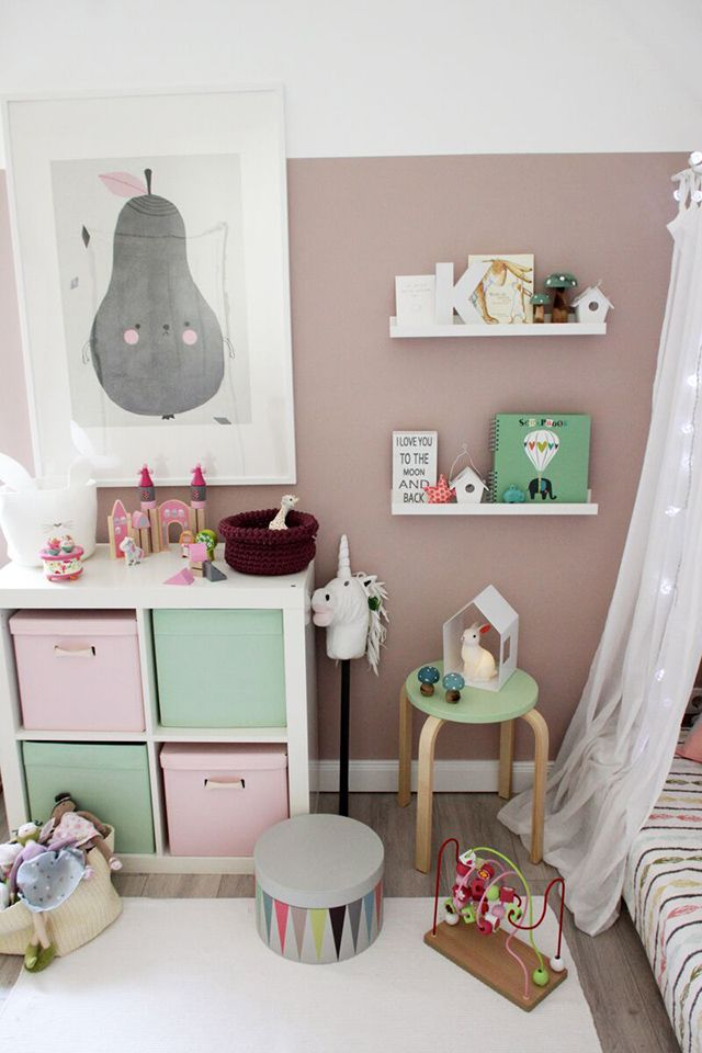 Very sweet girl's room in mint and pink and many charming details.  – kinderzimmer für mädchen