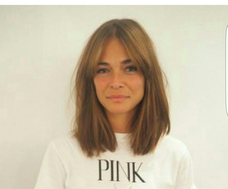 my ideal haircut - shoulder length with a grown-out fringe.