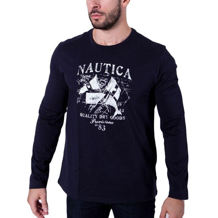 NAUTICA Ανδρική μπλε navy μπλούζα, regular fit