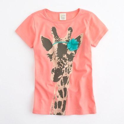 Factory girls' giraffe keepsake tee