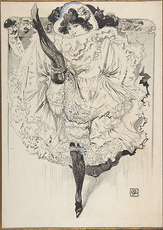 Anonymous, French, 19th century. A Cancan Dancer, ca. 1890–1910. The Metropolitan Museum of Art, New York. The Elisha Whittelsey Collection, The Elisha Whittelsey Fund, 1964 (64.657.15) #dance