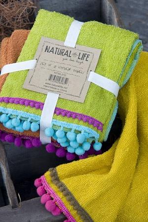 Natural Life dishtowels.  Cute DIY sewing idea....