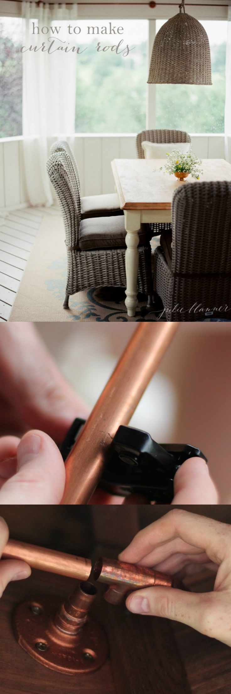How to make a custom curtain rod to fit inset windows, bay windows, standard windows and more!