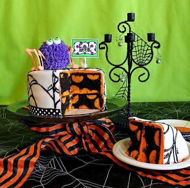 So cute: Holiday, Polka Dots, Halloween Idea, Food, Cake Ideas, Polka Dot Cakes, Cake Pop, Halloween Cakes, Halloween Party