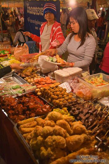 Night Market in Phnom Penh, Cambodia~~We should have night markets in the U.S.