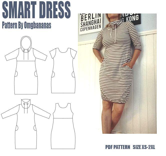 Smart dress XS-2XL PDF Mönster