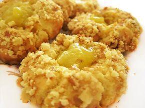 284. Печенье с орехами и лимонным курдом